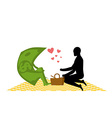 Money on picnic Rendezvous in Park Dollar and the vector image vector image