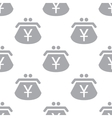 New Yen purse seamless pattern vector image vector image