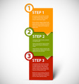 One two three - paper steps vector image vector image