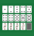 playing cards spades set vector image