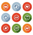 Prohibiting signs Icons Set vector image vector image
