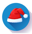 red santa claus hat new year cap vector image vector image