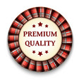 red tartan best quality badge with ribbon on vector image