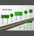 road sings banner traffic street route blank vector image vector image