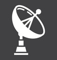 satellite dish solid icon antenna and radar vector image vector image
