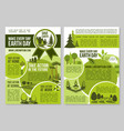 save planet nature announcement earth day posters vector image vector image