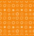 seamless background with doodle sun on orange vector image vector image