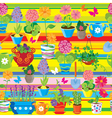 Seamless pattern with spring and summer flowers in vector image