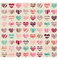 Seamless vintage pattern with hearts vector image