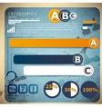 set infographic elements design template vector image