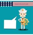 set men character USA sailor vector image vector image