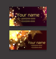 set of business cards with sparks and stars on vector image vector image