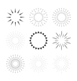 Set of sparkles and starbursts with rays Design vector image vector image