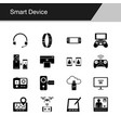 smart device icons design for presentation vector image