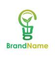smart eco bulb creative logo concept vector image vector image