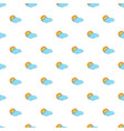 sun and cloud pattern vector image