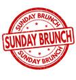 sunday brunch grunge rubber stamp vector image vector image
