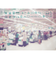 Supermarket store blur background vector image