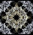 vintage baroque damask seamless pattern floral vector image vector image