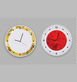 wall clock office template design in vector image vector image