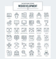 web development and programming icons vector image vector image