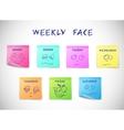 Weekly calendar stickers vector image vector image