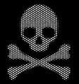 white dot death skull icon vector image