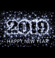 white grey typography happy new year 2019 in vector image vector image