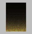 yellow abstract circle pattern brochure vector image vector image
