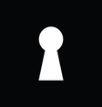 keyhole with black background vector image