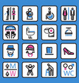 toilet icon- vector image