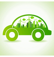 Ecology concept with eco car vector image