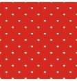 Seamless polka dot red pattern with hearts vector image