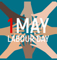 1 may labour day poster or banner vector image vector image