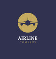 airline logo plane travel icon airport flight vector image vector image