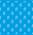 archway decorative pattern seamless blue vector image vector image