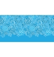 Blue field floral texture horizontal border vector image