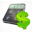 Calculator dollar symbol vector image vector image