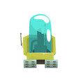 cartoon robot crawler character with glass blue vector image