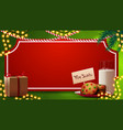 christmas template for your arts with red paper vector image