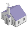 church chapel icon isometric style vector image vector image