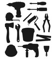 construction repair and renovation hand tools vector image