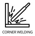corner welding icon outline style vector image