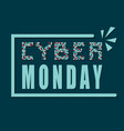cyber monday concept banner vector image vector image