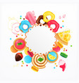 desserts sweets festive circular background vector image