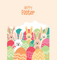 easter bunnies and egss vector image