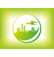 Eco city background vector image vector image