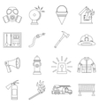 Fireman tools icons set outline style vector image vector image