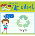 Flashcard alphabet R is for recycle vector image vector image