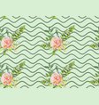 floral summer seamless pattern bouquets pink roses vector image vector image